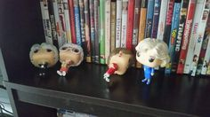 Knocked over Golden Girls Dolls. I'm a little disturbed that Betty White is the last one standing....