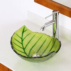 ELITE Spring Leaves Design Tempered Bathroom Glass Vessel... https://smile.amazon.com/dp/B00L0IAV1Y/ref=cm_sw_r_pi_dp_U_x_3wTHAb6R2A740