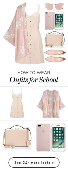 """day 4 of school rtd also"" by queenshaima on Polyvore featuring Miss Selfridge, Mark Cross and So.Ya"