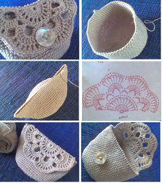 Easy Crochet Doily Purse Free Crochet Patterns with The prettiest crochet purse free pattern and tutorial – Artofit The Mini Backpack Keychain Free Crochet Pattern is very easy to make. Crochet Wallet, Crochet Coin Purse, Crochet Purse Patterns, Crochet Pouch, Quick Crochet, Crochet Amigurumi, Crochet Purses, Crochet Gifts, Crochet Doilies
