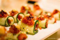 Spicy Ahi Tuna with Cucumbers
