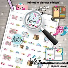 Planner Stickers Printable Planner Stickers Washi by LetsPaperUp