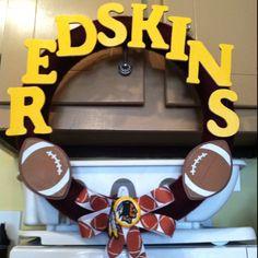 Redskins wreath