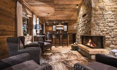 Chalet Kanzi, St Anton, part of the Eden Rock building is a Luxury property with fantastic shared wellness area and social spaces. Close to the Ski-lifts. Part of the Firefly Collection. Ski Chalet, Chalet Style, Ski Europe, St Anton, Eden Rock, Luxury Ski Holidays, Leo, Rock Fireplaces, Relaxation Room
