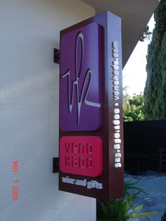 blade signs. Push through lighted lettering