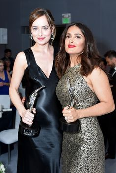 With the gorgeous Selma Hayek