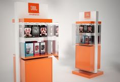 Concepts for JBL earphones. Idea is to have exhibition and storage below. Pos Display, Display Design, 3d Design, Custom Design, Promotional Stands, Interior Design Exhibition, Wood Putty, Contract Furniture, Industrial Design