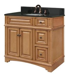 "View the Sunny Wood VE3621D Vintage Estate 36"" Wood Vanity Cabinet Only at Build.com."