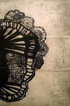 peinture : Ritsuko Ozeki, Netting. noir