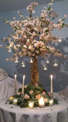 Summer Tree Wedding Centrepiece creation