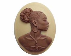 African American Cameo Ethnic cameo  Black by cameojewelrysupply, $1.56