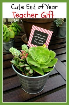 Cute idea for end of year gifts for little one's teachers teacher gifts, gift ideas for teachers
