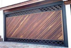 portao madeira com ferro