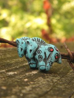 Two New Turquoise Pony Beads by TreeWingsStudio, via Flickr