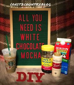 Starbucks Iced White Chocolate Mocha DIY – Coast to Country Starbucks White Chocolate Mocha, Iced White Mocha, Chocolate Diy, Starbucks Coffee, Healthy Starbucks Drinks, Starbucks Recipes, Coffee Recipes, Iced Coffee At Home