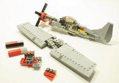 breakdown shot of my underside of the wing and tail Legos, Lego Plane, Lego Ww2, Lego Ship, Lego Spaceship, Lego Mecha, Lego Military, Lego Design, Lego Instructions