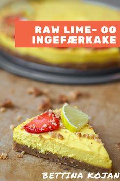 Raw lime- og ingefærkake fra Bettina Kojan er en forfriskende og smakrik sommerdessert | Raw oppskrift | Kake oppskrift | Sommeroppskrift | Enkel kakeoppskrift | Sukkerfri kake