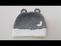 How to Knit - Crochet Ear Flap Beanie for Babies Tulum, Knit Crochet, Knitting, Hats, Youtube, Fashion, Tricot, Moda, Hat