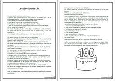 100 jours: la collection de Léa, mots, activité, lecture, cp, ce1