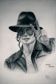 easy drawing of michael jackson - Google Search