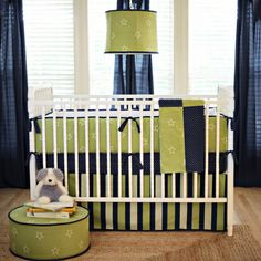 Blue and Green nursery for the boys!