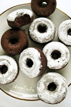 Fit DONUTY czekoladowe zkakao – pieczone, wegańskie Doughnut, Donuts, Food And Drink, Fitness, Desserts, Recipes, Foodies, Cook, Gymnastics