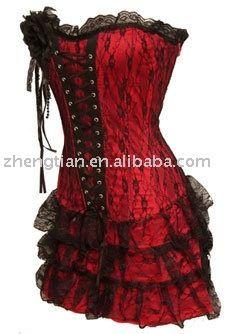Red/black corset
