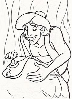 Walt Disney Coloring Pages - Prince Aladdin - walt-disney-characters Photo