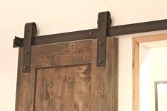 6 6 ft Black Country Style Steel Slide Sliding Barn Door Hardware Track Rail Kit | eBay