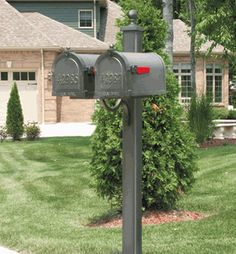 The - Main Street Double Mailbox Post (Mailboxes Purchases Separately) by Special Lite Products is on sale now. New Mailbox, Mailbox Post, Mailbox Ideas, Front Door Entrance, Address Plaque, Where The Heart Is, Main Street, Wood Wall Art, Inventions