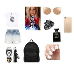 """""""#79"""" by ncandyx ❤ liked on Polyvore featuring Converse, Topshop, Hogan and Linda Farrow"""