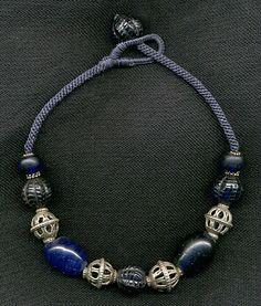 Ювелирные изделия Кэти певицы - старый чешское стекло ожерелье