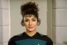 Before Star Trek 'The Next Generation' began shooting, they tried different looks for the actors we'd come to know as the crew of the Starship Enterprise D.