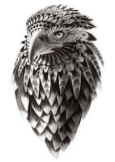Awesome hawk design. Something like this, but with an owl on the shoulder would be really nice.