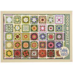 Jigsaw Puzzle, 1000 Pieces, 10 inch x 14 inch, Granny Squares, Multicolor