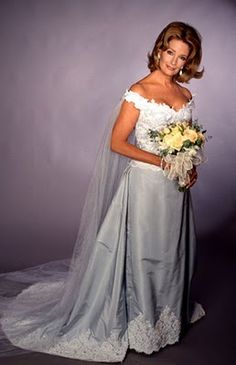 Days Marlena(Deidre Hall) in her wedding dress to wed John of Days Of Our Lives