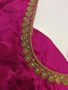 26 ideas for embroidery blouse saree simple Kids Blouse Designs, Hand Work Blouse Design, Simple Blouse Designs, Stylish Blouse Design, Wedding Saree Blouse Designs, Pattu Saree Blouse Designs, Blouse Designs Silk, Designer Blouse Patterns, Maggam Work Designs
