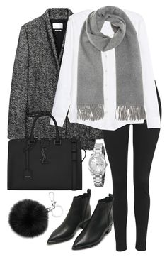 """Untitled #2355"" by elenaday ❤ liked on Polyvore featuring Étoile Isabel Marant, Topshop, MANGO, Acne Studios, Yves Saint Laurent, Michael Kors and FOSSIL"