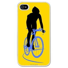 Triathlon iPhone/Galaxy S3 Case Cyclist - This customizable protective case is the perfect accessory for any runner's phone. This great smartphone case fits the iPhone 4, iPhone 4S, iPhone 5 and Samsung Galaxy S3.