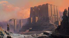 The Desert Castle by Mehmet Tayfur Türkmenoğlu