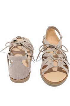 352630de3c7743 Your Euro vacation just got super stylish thanks to the Return to Rome Grey Gladiator  Sandals