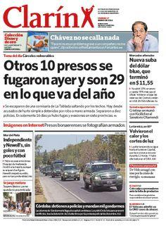 Otro escape de presos: ya hay 29 evadidos en sólo 16 días. Más información: http://www.clarin.com/policiales/escape-presos-evadidos-solo-dias_0_1067893264.html