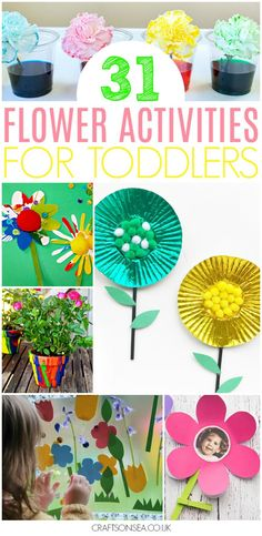 Over 30 fantastic flower activities for toddlers! all the inspiration you need with easy and educational ideas, crafts and fun things for toddlers to make Science For Toddlers, Toddler Science Experiments, Art Activities For Toddlers, Preschool Art Projects, Spring Activities, Science Activities, Preschool Crafts, Art Projects For Toddlers, Garden Ideas For Toddlers