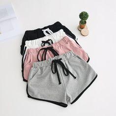 Fashion Womens Elastic High Waist Shorts Ladies Summer Shorts