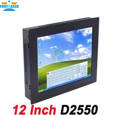 All in one computer mini terminal 12 inch Five wire Gtouch using high-temperature ultra thin panel with 1G RAM 24G SSD