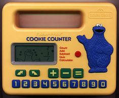Cookie Monster Cookie Counter - Here it is! I have been looking all over the internet forever looking for this toy! I was seriously obsessed playing the juggling game and I was so great at it!