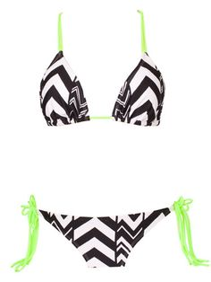 Black and White Chevron Swimsuit