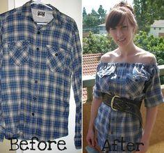 Turn a Flannel Shirt into a Pretty Dress – DIY