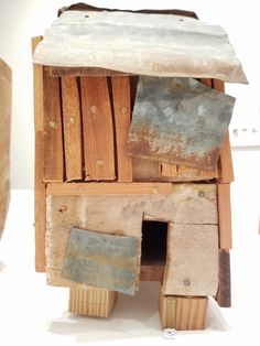 """The Political Abstractions of Beverly Buchanan  Beverly Buchanan, """"Flye Town"""" (detail) (1990), wood, metal, and paint"""