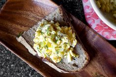 egg salad with pickled celery and coarse dijon